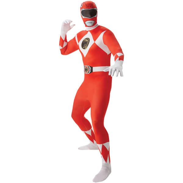 Power Rangers Men's 2nd Skin Red Ranger Fancy Dress