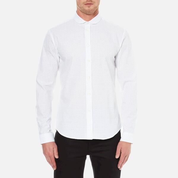 Carven Men's All Over Print Long Sleeve Shirt - Blanc