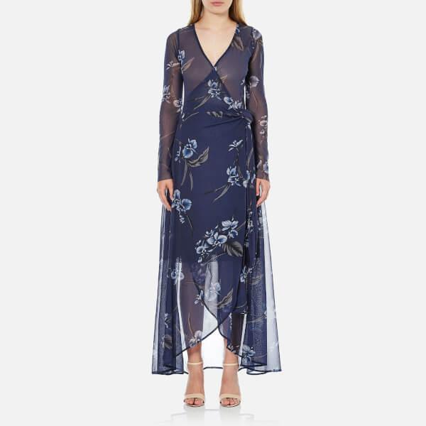Ganni Women's Etsu Mesh Dress - Iris Orchid