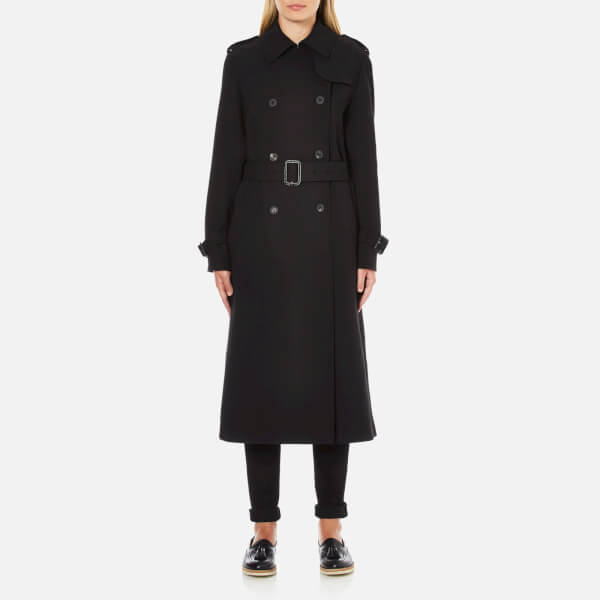 McQ Alexander McQueen Women's Slim Trench Coat - Black