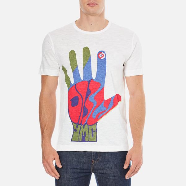 YMC Men's Hamsa Psych T-Shirt - White