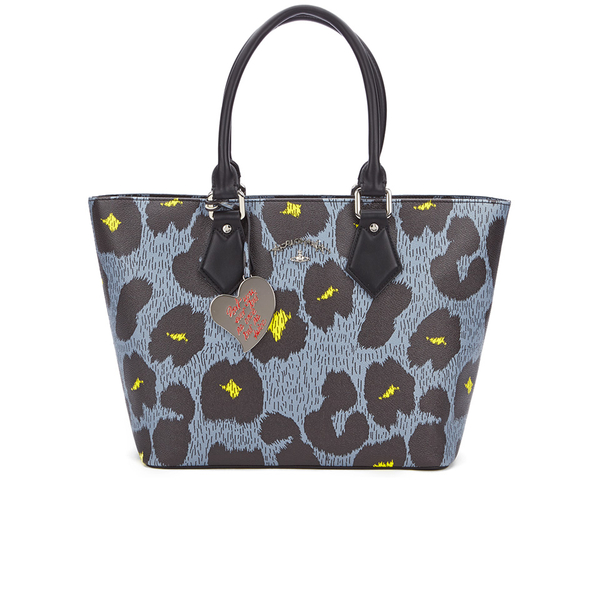 Vivienne Westwood Leopardmania Women's Shopper Bag - Grey