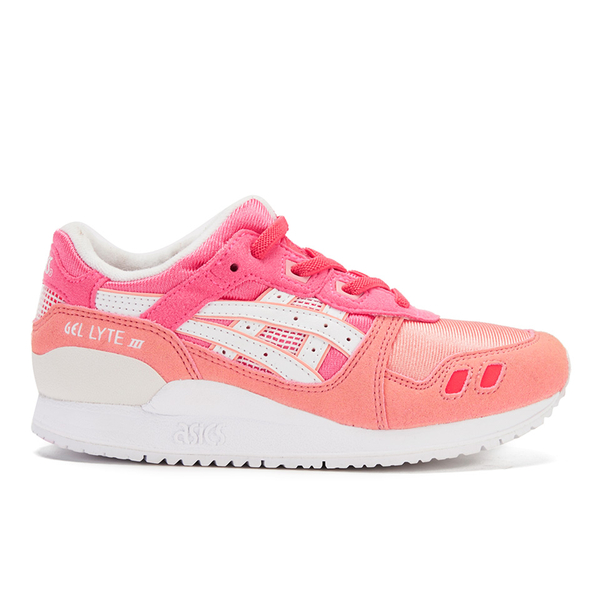 Asics Kids' Gel-Lyte III PS Trainers - Guava/White