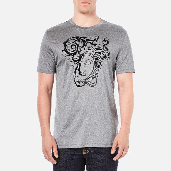Versace Collection Men's Printed T-Shirt - Grey