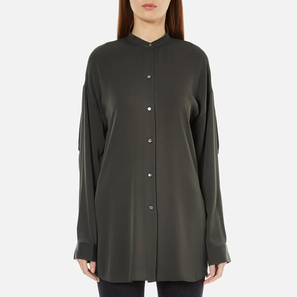 Helmut Lang Women's Stretch Georgette Shirt - Willow