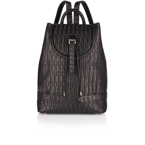 meli melo Women's Woven Mini Backpack - Black Woven