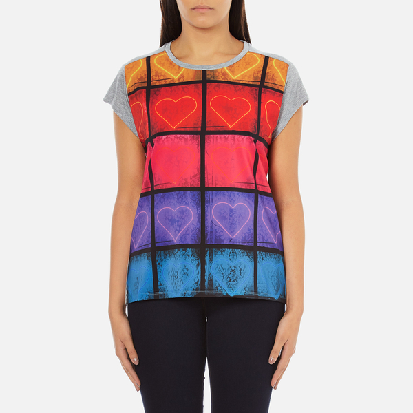 PS by Paul Smith Women's Neon Heart T-Shirt - Grey