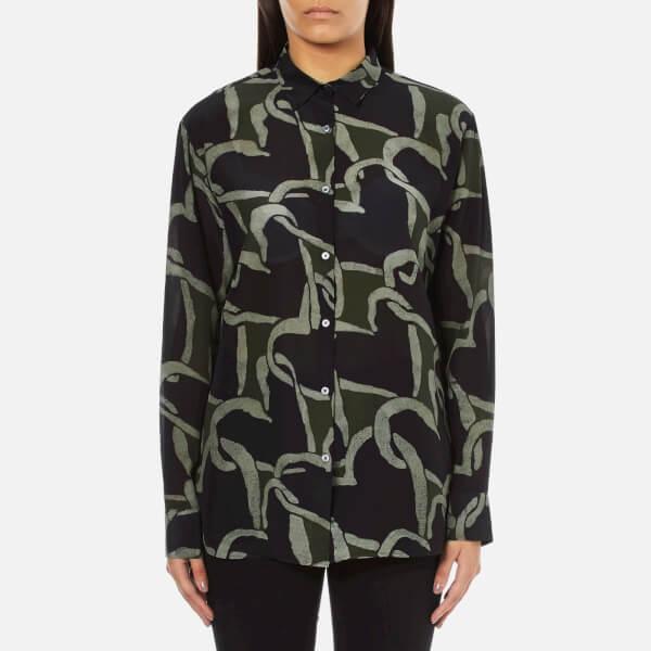PS by Paul Smith Women's Interlink Heart Silk Shirt - Multi