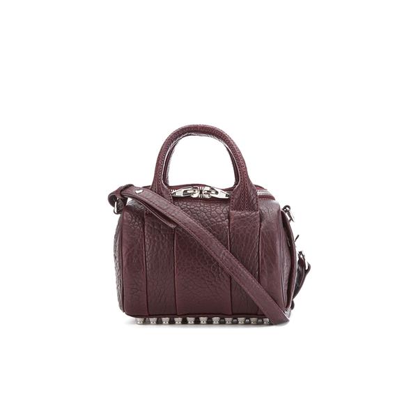 Alexander Wang Women's Mini Rockie Bowler Bag with Silver Hardware - Beet