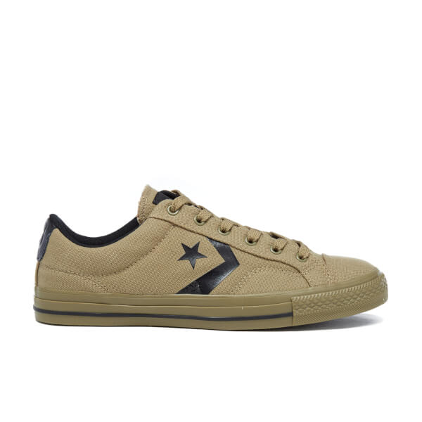 Converse Men's CONS Star Player Canvas Trainers - Jute/Black