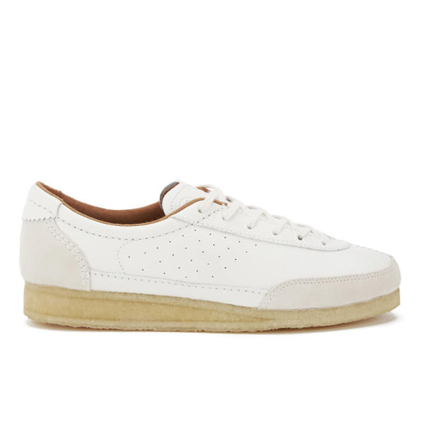 Clarks Originals Men's Torcourt Super Trainers - White Leather