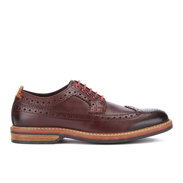 Clarks Men's Pitney Limit Leather Brogues - Chestnut