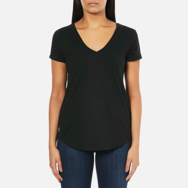 Polo Ralph Lauren Women's V Neck T-Shirt - Black