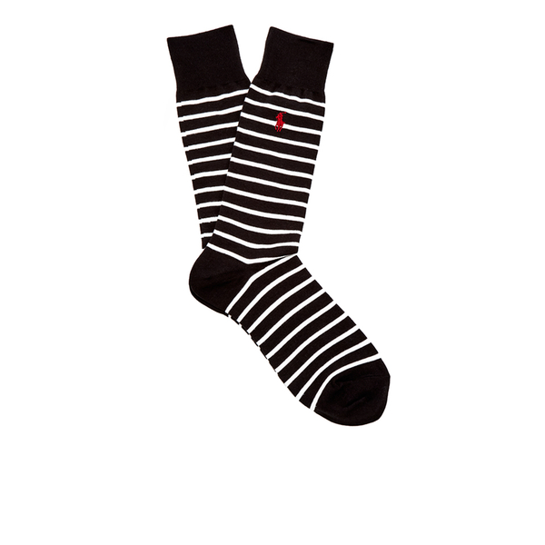 Polo Ralph Lauren Men's 3 Pack Socks - Dot Black