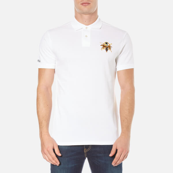 Polo Ralph Lauren Men's Short Sleeve Large Logo Polo Shirt - White