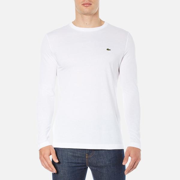 Lacoste Men's Long Sleeved Crew Neck T-Shirt - White