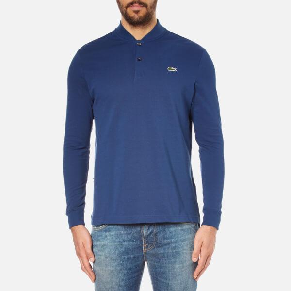 Lacoste L!ve Men's Long Sleeve Teddy Collar Polo Shirt - Jazz