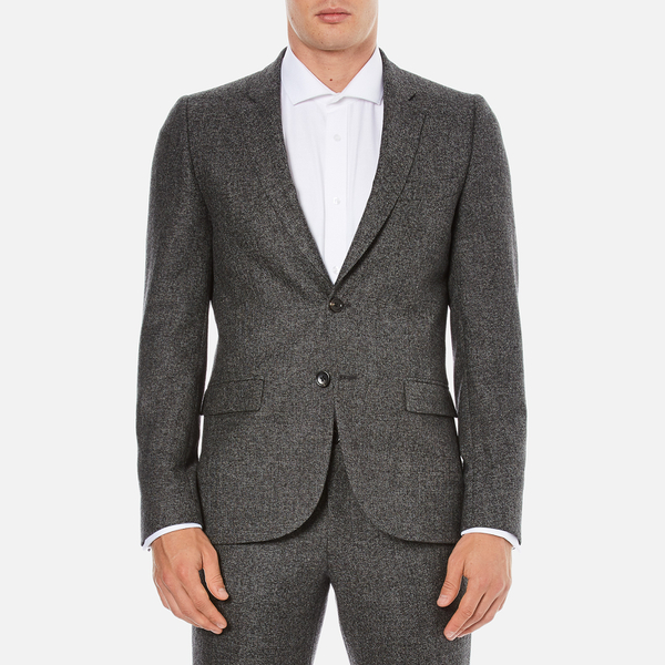 PS by Paul Smith Men's Fully Lined Single Breasted Jacket - Grey