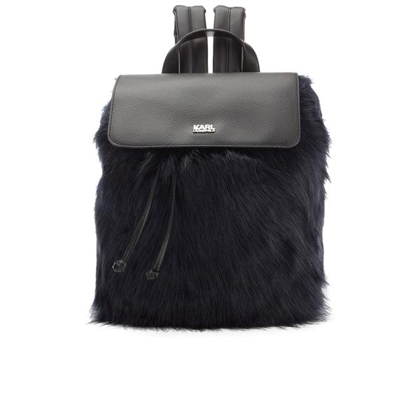 Karl Lagerfeld Women's K/Pop Fuzzi Backpack - Black