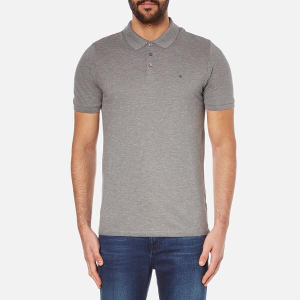 Calvin Klein Men's Paul Polo Shirt - Mid Grey Heather