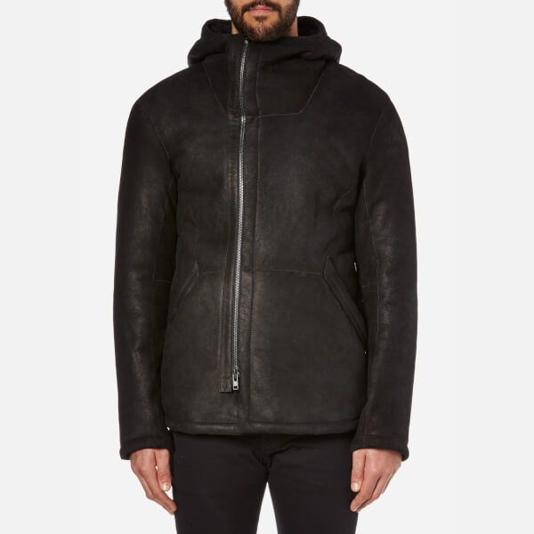 Helmut Lang Men's Luxe Shearling Jacket - Black
