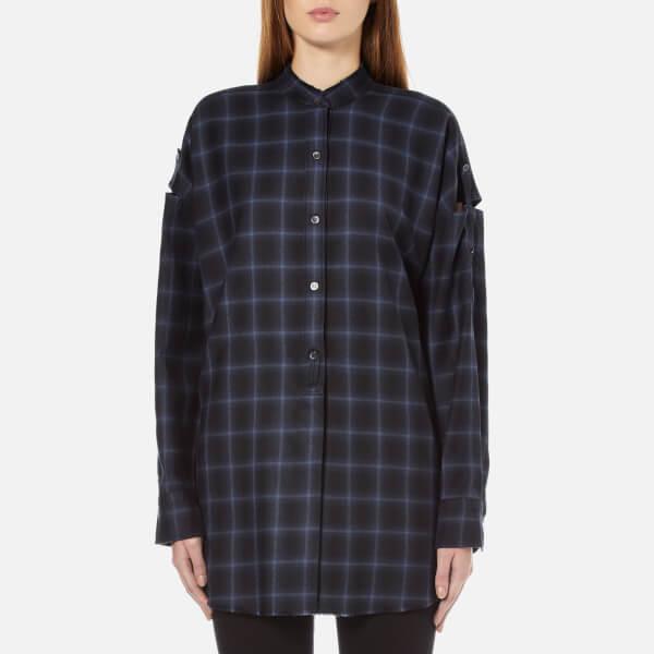 Helmut Lang Women's Shoulder Tab Oversized Shirt - Navy Melange