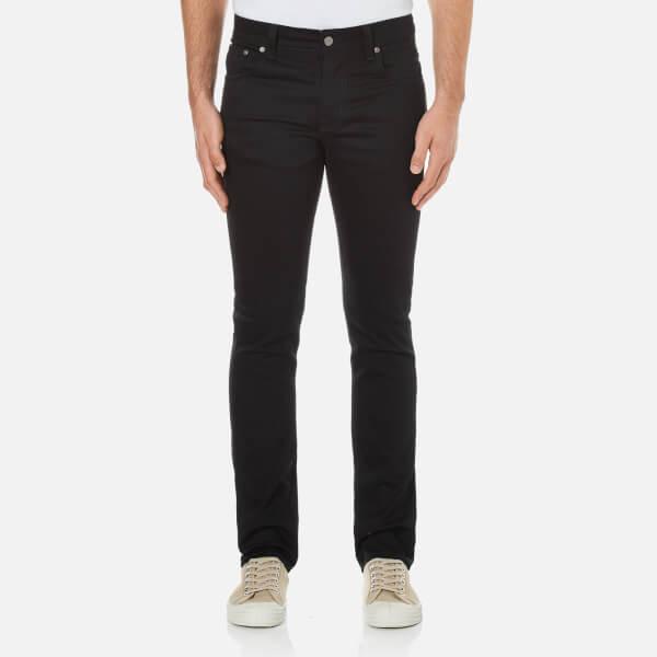 Nudie Jeans Men's Grim Tim Straight/Slim Fit Jeans - Dry Cold Black