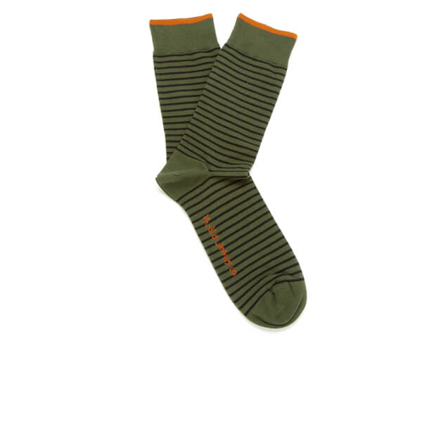 Nudie Jeans Men's Striped Socks - Bunker