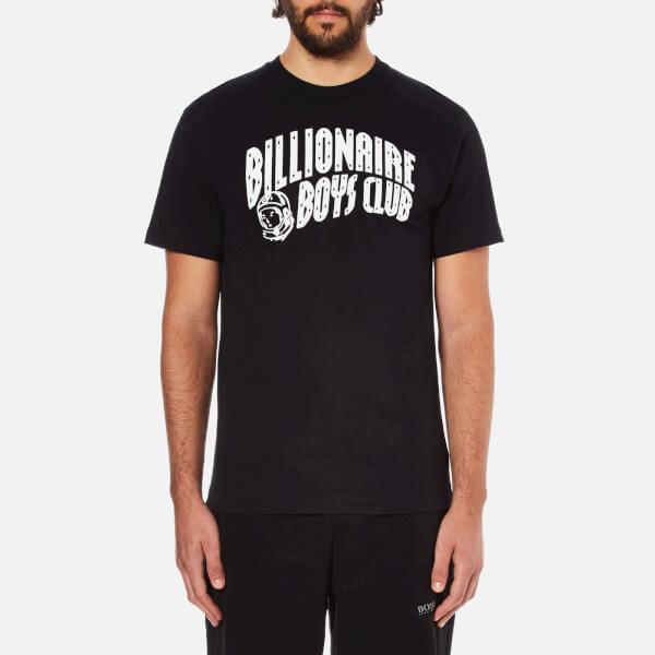 Billionaire Boys Club Men's Arch Logo Reflective Ski-Grid Short Sleeve T-Shirt - Black