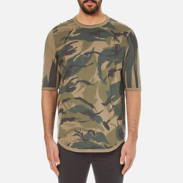 Maharishi Men's Reversible Camo Thayer T-Shirt - Jungle