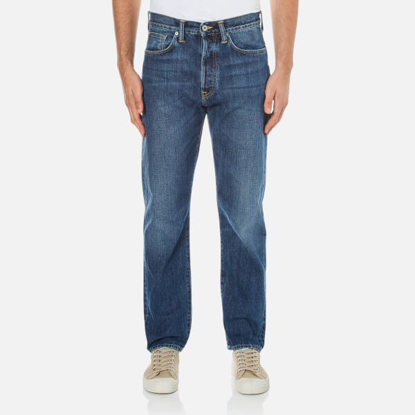 Edwin Men's Ed-45 Loose Tapered Red Listed Selvedge Jeans - Mid Sleet Wash