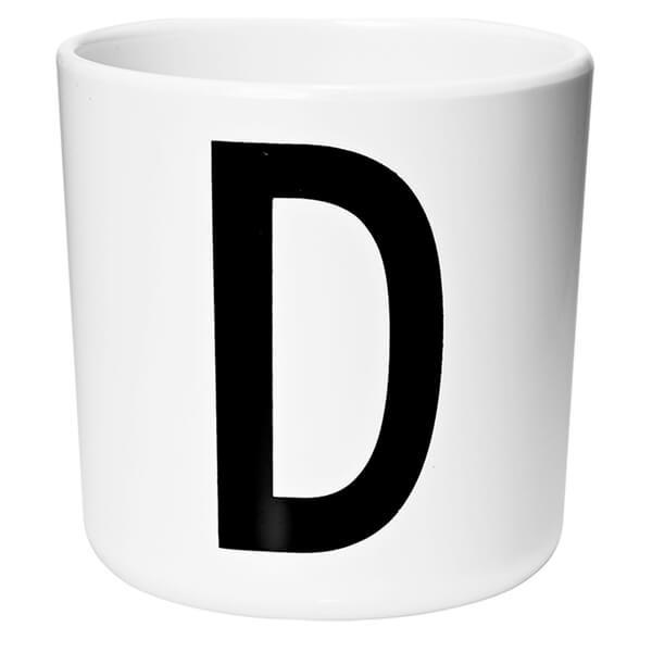 Design Letters Kids' Collection Melamin Cup - White - D