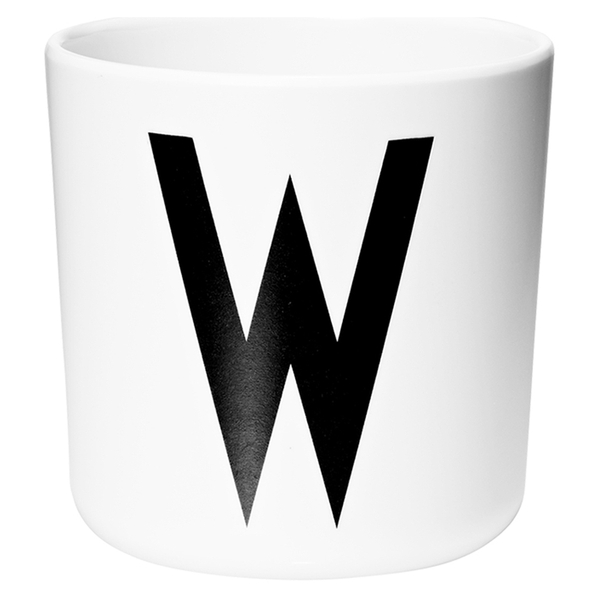Design Letters Kids' Collection Melamin Cup - White - W