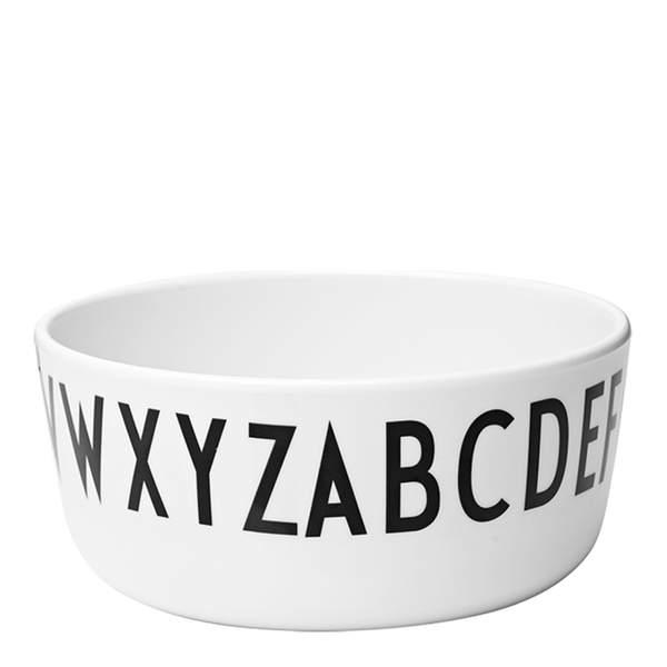 Design Letters Kids' Collection Melamin Bowl - White