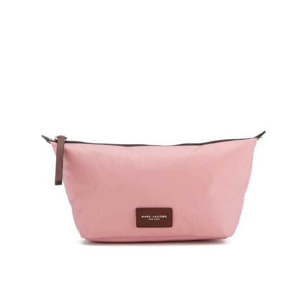 Marc Jacobs Women's Nylon Biker Cosmetics Large Landscape Pouch Bag - Pink Fleur