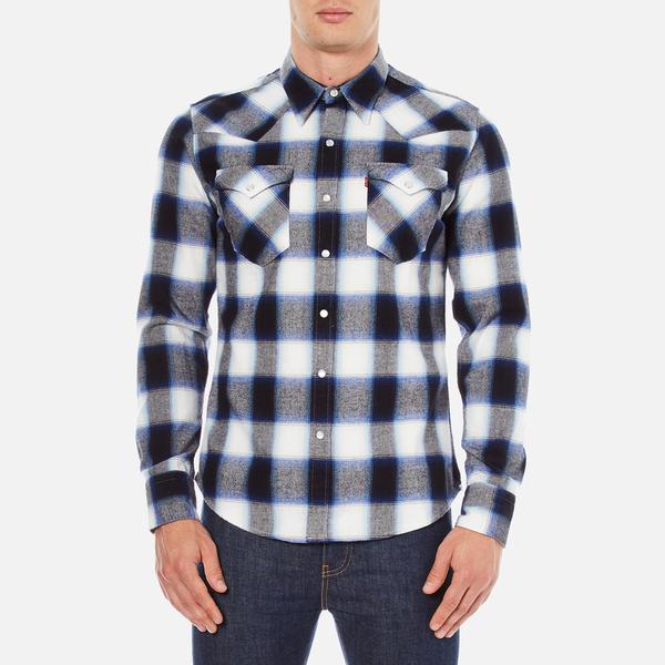 Levi's Men's Barstow Western Shirt - Ferula Dress Blues