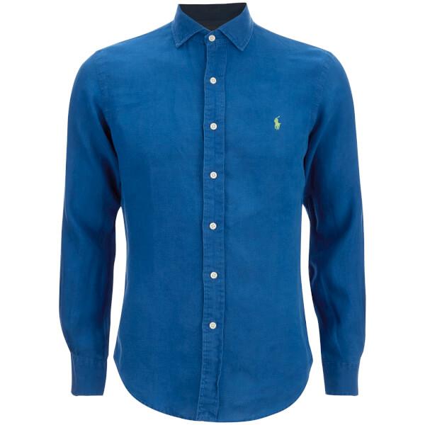 Polo Ralph Lauren Men's Slim Fit Long Sleeve Linen Shirt - Chalet Blue