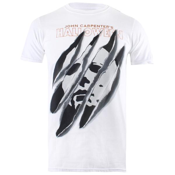 Halloween Men's Slashed T-Shirt - White