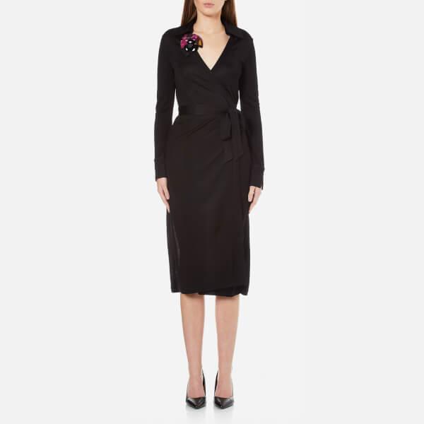 Diane von Furstenberg Women's Cybil Wrap Dress - Black