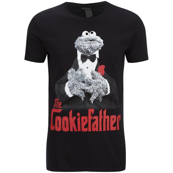 Cookie Monster Men's Cookiefather T-Shirt - Black