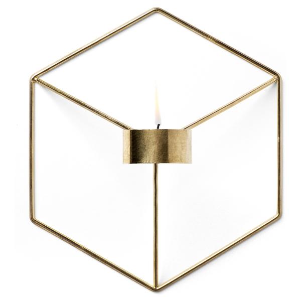 Menu POV Candle Holder Wall - Brass