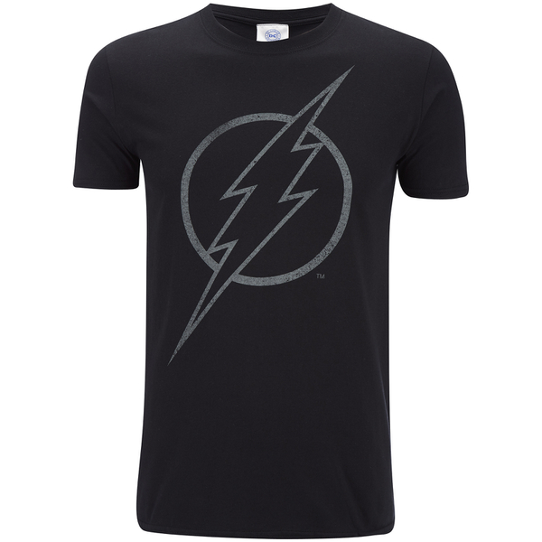 DC Comics Men's The Flash Line Logo T-Shirt - Black