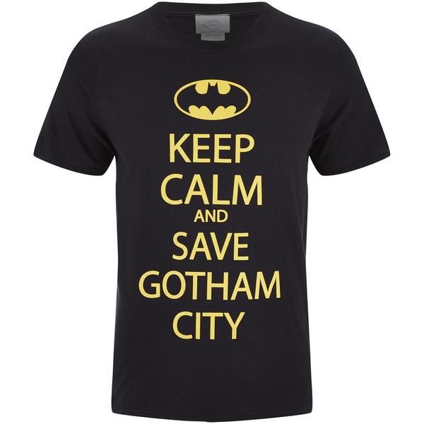 DC Comics Batman Men's Keep Calm T-Shirt - Black