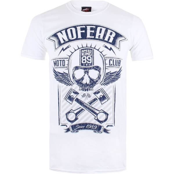 No Fear Men's Skull T-Shirt - White