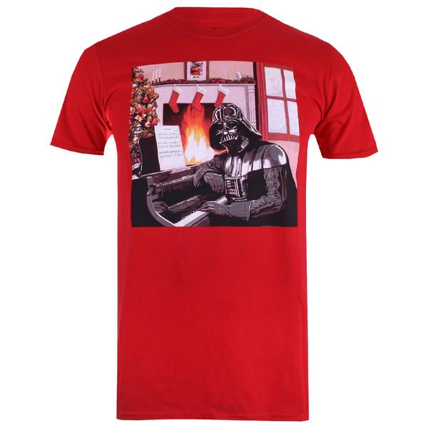 Star Wars Men's Vader Piano T-Shirt - Red