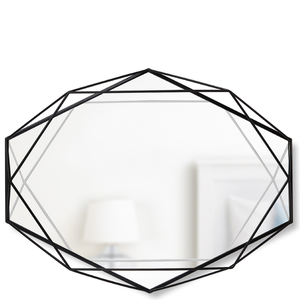 Umbra Prisma Geometric Mirror Black Homeware Thehut Com