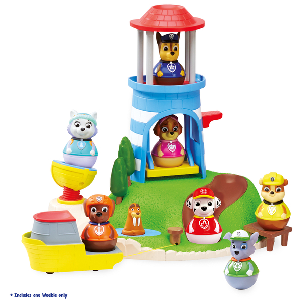 Paw Patrol Weebles Pull and Play Seal Island Playset