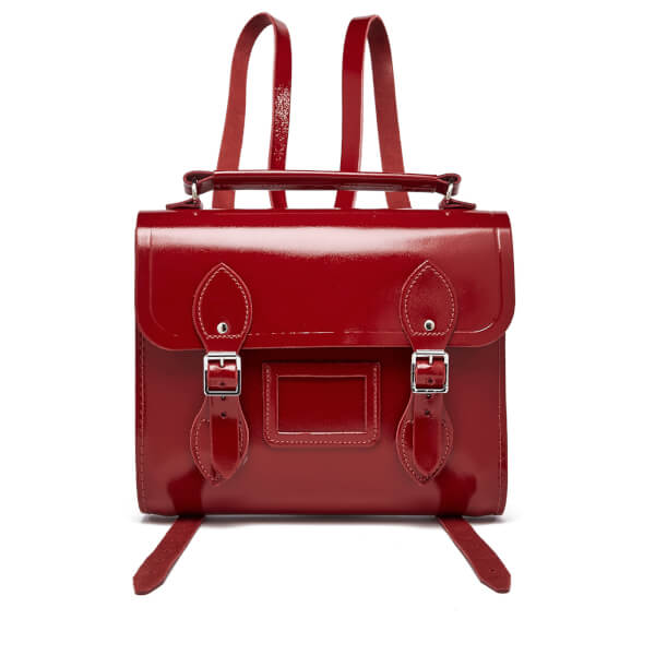 The Cambridge Satchel Company Women's Barrel Backpack - Patent Red