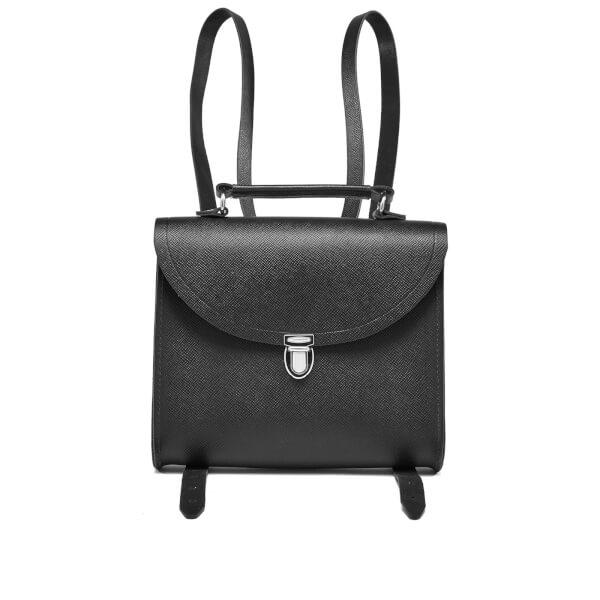 The Cambridge Satchel Company Women's Poppy Backpack - Black Saffiano
