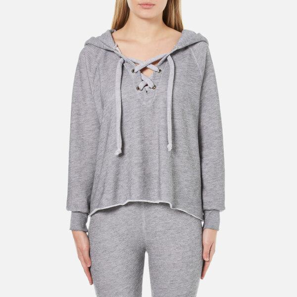 Wildfox Women's Hutton Hooded Sweatshirt - Heather Burnout